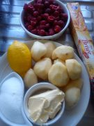 Ingredients for the tatin & coulis