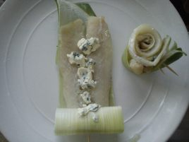 Fish, Leek, Cheese, roll